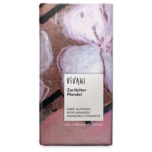 Шоколад Vivani темный с цельным миндалем 55%, 100 г