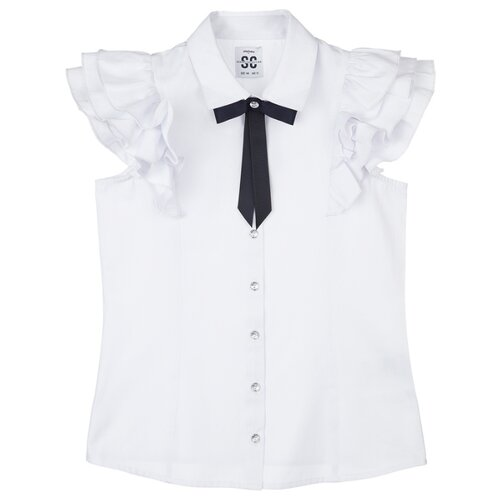 Блузка playToday размер 164, белый