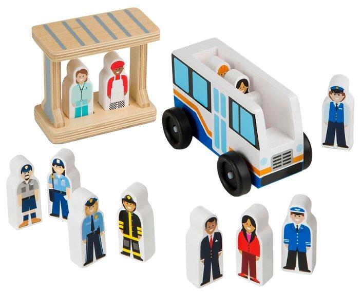 Игровой набор Melissa & Doug Off to Work Bus Set 5185