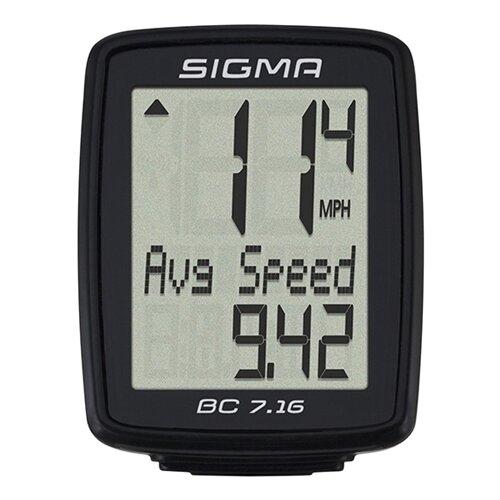 цена на Велокомпьютер SIGMA BC 7.16, 7 функций, черный