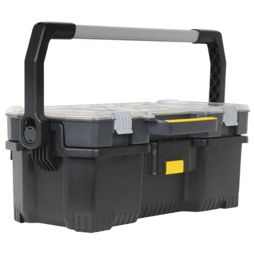 Ящик с органайзером STANLEY 1-97-514 67x25.1x32.3 см 24'' черный ящик с органайзером stanley jumbo 1 92 906 27 6x48 6x23 2 см черный желтый