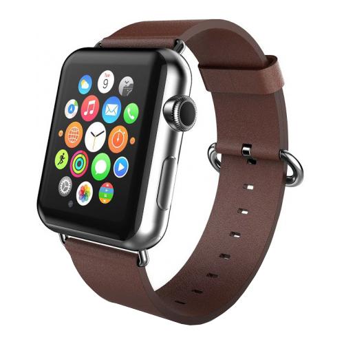 Купить CARCAM Ремешок для Apple Watch 38mm PU Leather коричневый