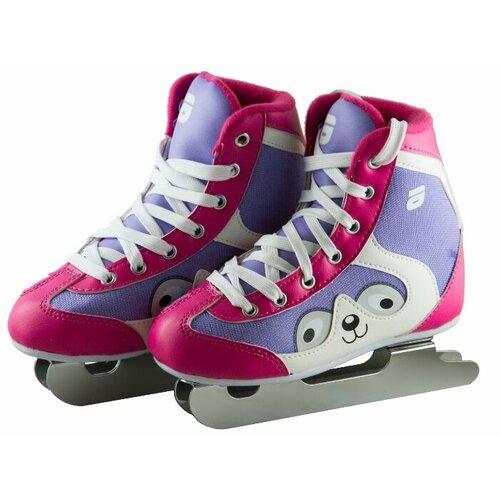 Детские прогулочные коньки ATEMI AKSK-17.07 Snow Baby Girl для девочек, розовый/белый/фиолетовый р. 31
