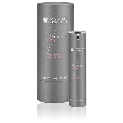 Купить Janssen Cosmetics Platinum Care Day Cream Крем для лица с пептидами и коллоидной платиной реструктурирующий дневной, 50 мл