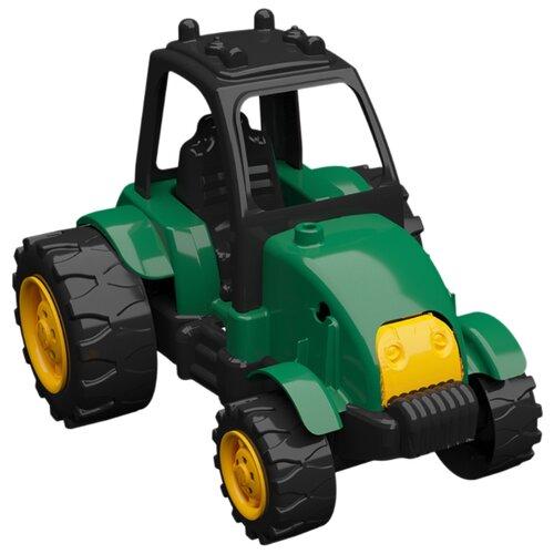 Купить Трактор Terides Т8-051 25 см черный/зеленый/желтый, Машинки и техника