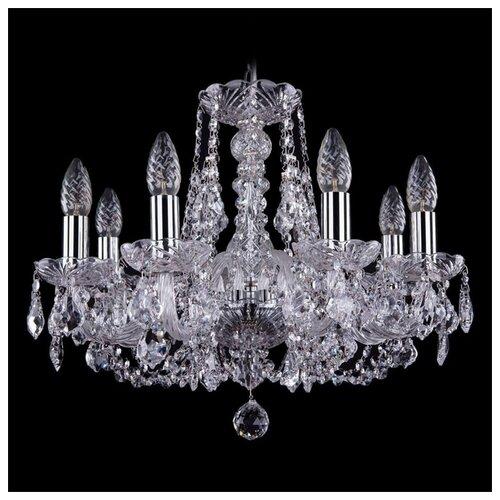 Люстра Bohemia Ivele Crystal 1406 1406/8/160/Ni/Leafs, E14, 320 Вт люстра bohemia ivele crystal 1406 1406 8 160 ni leafs e14 320 вт