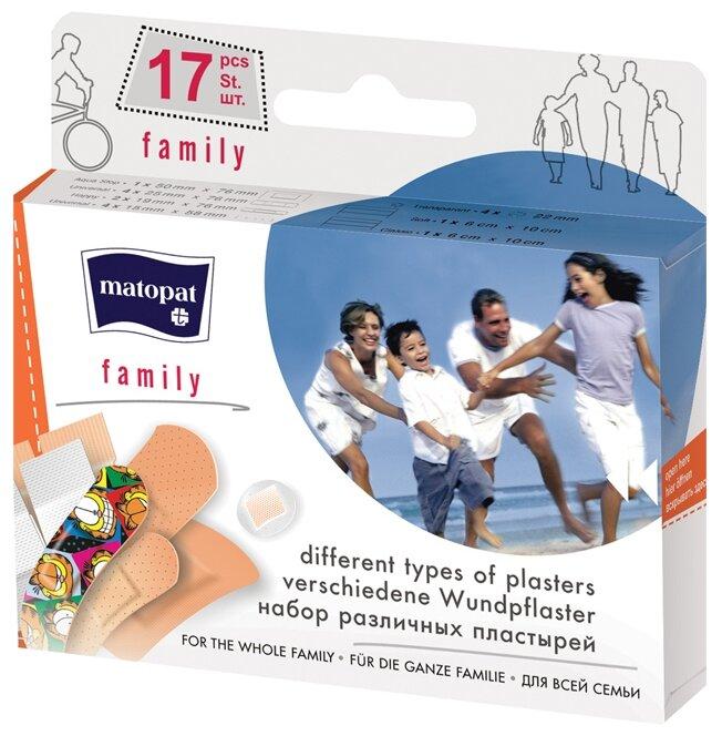 Matopat Family пластырь защитный, 17 шт.