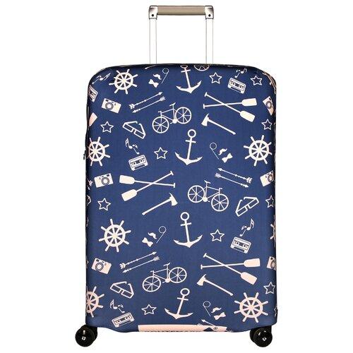 Чехол для чемодана ROUTEMARK Oldboy SP180 M/L, синий