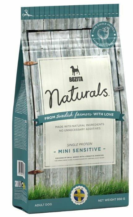 Корм для собак Bozita Naturals для здоровья кожи и шерсти, ягненок 950г