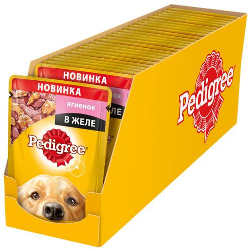 Корм для собак Pedigree (0.1 кг) 24 шт. Для взрослых собак всех пород с ягненком в желеКорма для собак<br>