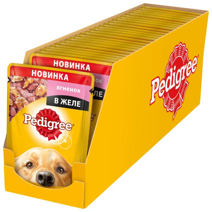 Корм для собак Pedigree Для взрослых собак всех пород с ягненком в желе