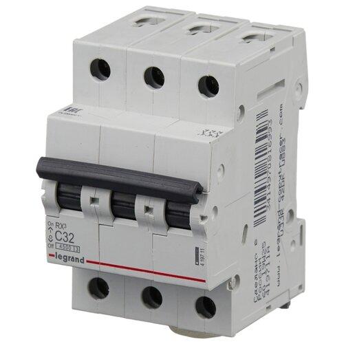 Автоматический выключатель Legrand RX3 3P (C) 4,5kA 32 А legrand выключатель авт 2п c 25а rx3 4 5ка leg 419699