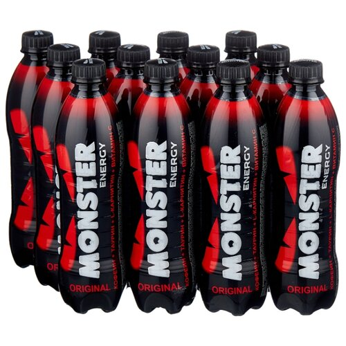 Энергетический напиток Monster Energy red, 0.5 л, 12 шт.