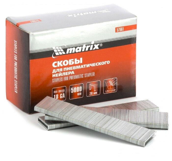 Скобы matrix 57661 для степлера, 28 мм