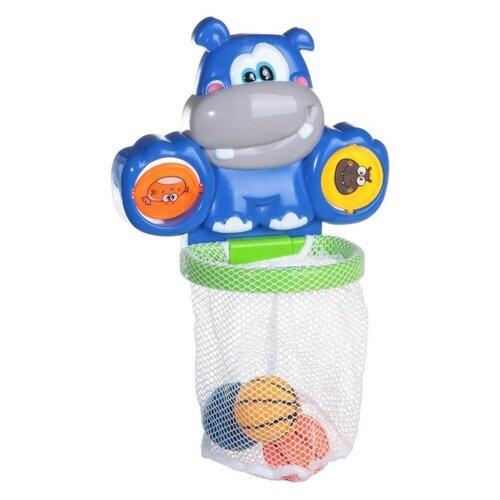 Купить Игрушка для ванной XingLong Da Toys Бегемот (8825B) синий, Игрушки для ванной