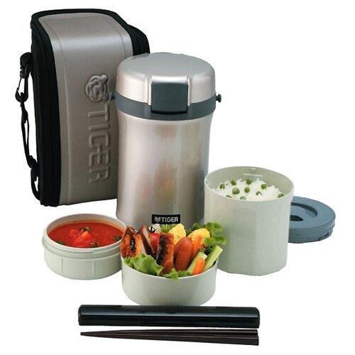 Термос для еды TIGER LWU-B200, 3 предмета серебристый