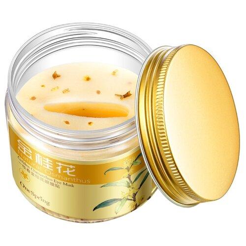 One Spring Маска-патчи для кожи вокруг глаз с цветками золотого Османтуса Golden Osmanthus Eye Mask 140 г (80 шт.) маска beauty style anti age eye mask омолаживающая для кожи вокруг глаз 15 мл