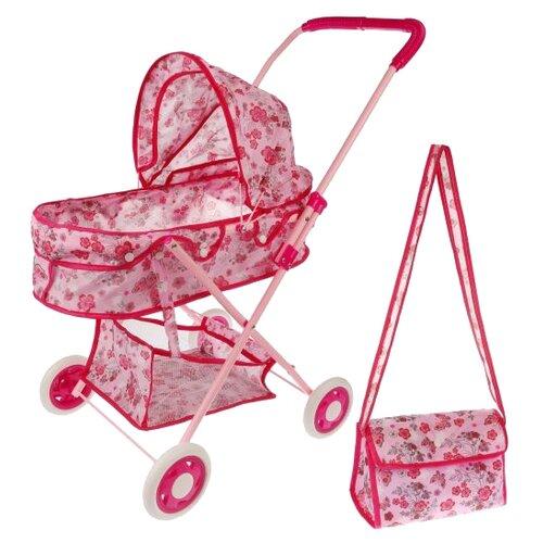 Купить Коляска-люлька Наша игрушка Вальс M7535-6 бабочки, Коляски для кукол