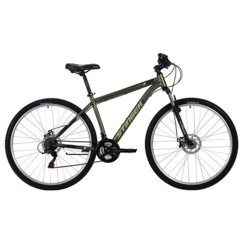 Горный (MTB) велосипед Stinger Caiman D 29 (2020) зеленый 20 (требует финальной сборки) велосипед stinger 26 banzai 20 синий 26 sfv banzai 20 bl7