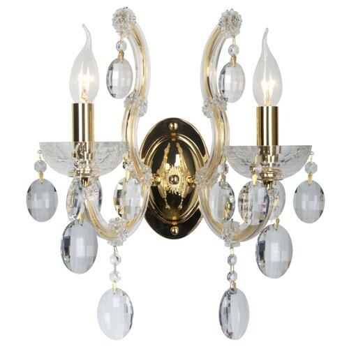 Настенный светильник Crystal Lux Hollywood AP2 Gold, 80 Вт недорого