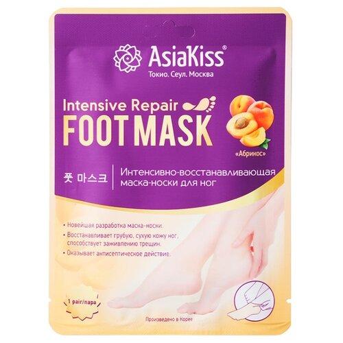 Asiakiss Маска-носки для ног Абрикос интенсивно-восстанавливающая 44 гУход за ногами<br>