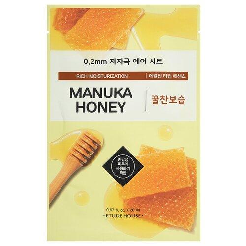 Etude House тканевая маска 0.2 Therapy Air Mask Manuka Honey с экстрактом меда манука, 20 мл тканевая маска для лица с экстрактом меда 0 2 therapy air mask manuka honey 20мл