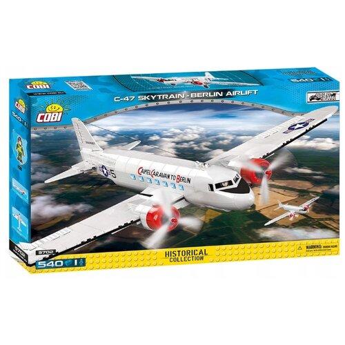 Конструктор Cobi Cold War 5702 Военно транспортный самолет Douglas C-47 Skytrain Berlin Airlift конструктор cobi самолет boeing 787 dreamliner
