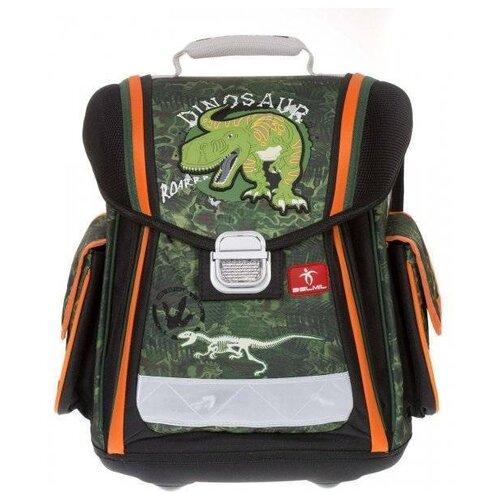 Купить Belmil Ранец Sporty Dinosaur (404-5/442), зеленый/оранжевый, Рюкзаки, ранцы