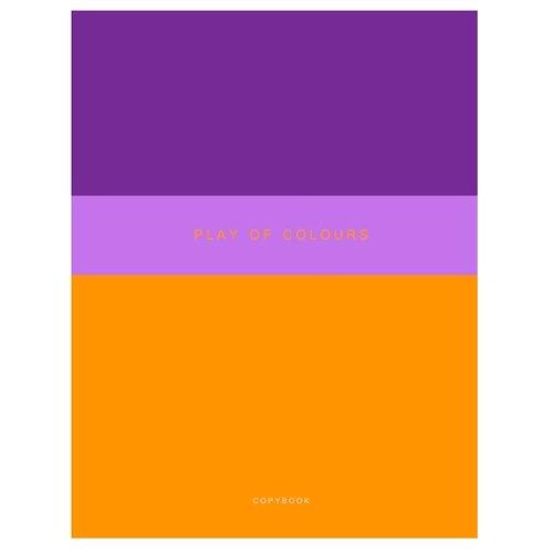 Купить Канц-Эксмо Тетрадь Неоновый дуэт в клетку, 48 л., фиолетовый/оранжевый, Тетради
