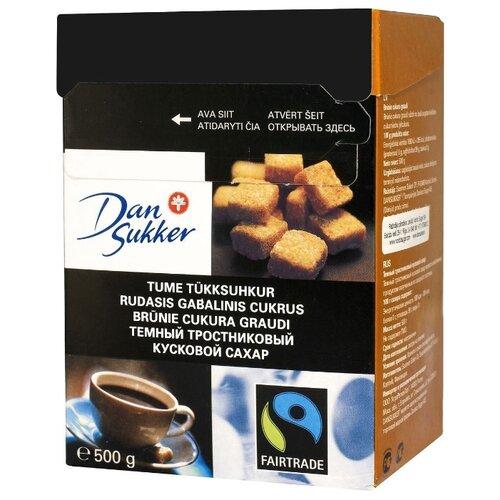 Сахар Dansukker тростниковый кусковой 0.5 кг