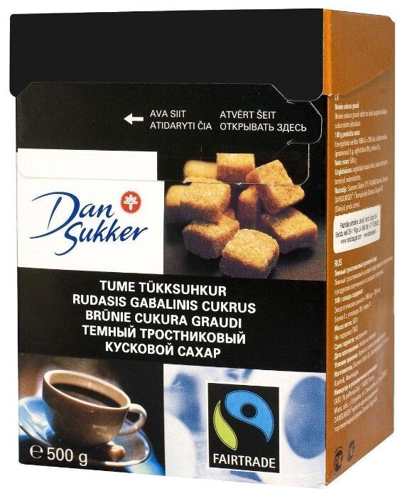 Сахар Dansukker тростниковый кусковой