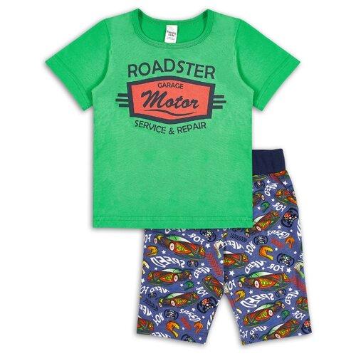 Комплект одежды Веселый Малыш размер 98, зеленый/синий