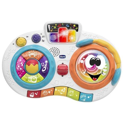 цена на Интерактивная развивающая игрушка Chicco Пульт DJ белый/синий/оранжевый