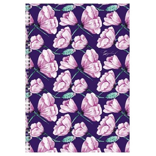 Купить Канц-Эксмо Тетрадь для конспектов ТСБ4964503 в клетку, 96 л., розовые лепестки, Тетради