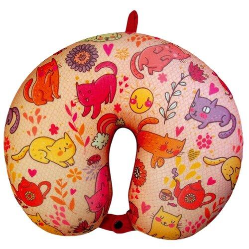 Фото - Подушка для шеи Штучки, к которым тянутся ручки Мяу, розовая дорожный набор штучки к которым тянутся ручки турист оранжевый
