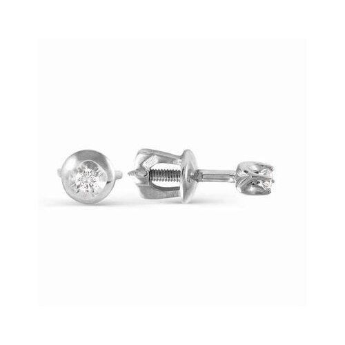 АЛЬКОР Серьги с бриллиантами из белого золота 2092-200
