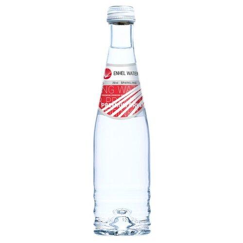 Вода минеральная питьевая артезианская Enhel Brilliant Water газированная, стекло, 0.25 лВода<br>
