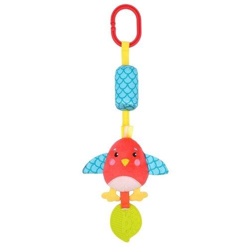 цена Подвесная игрушка Жирафики Птичка (939722) голубой/красный онлайн в 2017 году
