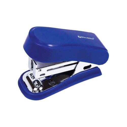 Купить BRAUBERG Степлер Option мини, для скоб №24/6 синий, Степлеры, скобы, антистеплеры