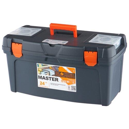 Ящик с органайзером BLOCKER Master BR6006 61x32x30 см 24'' серо-свинцовый/оранжевый ящик с органайзером blocker master br6006 61x32x30 см 24 серо свинцовый оранжевый