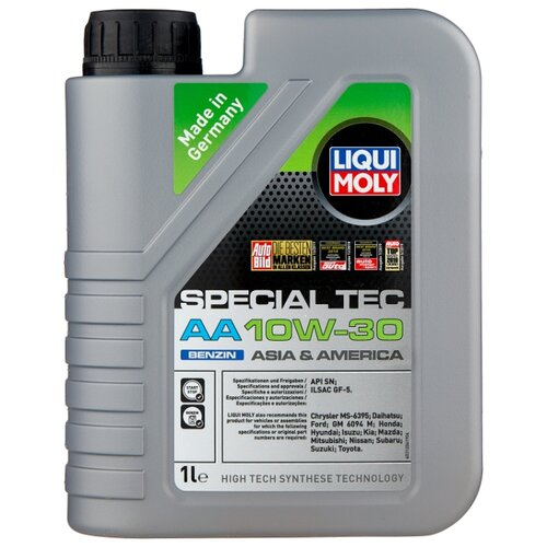 Синтетическое моторное масло LIQUI MOLY Special Tec AA Benzin 10W-30 1 л liqui moly speed tec benzin 0 25 л
