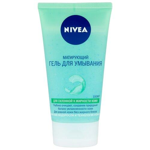 Nivea гель для умывания очищающий Матирующий, 150 мл nivea нежный крем гель для умывания