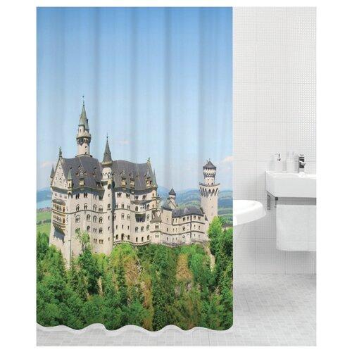 Штора для ванной Bath Plus Neuschwanstein 180х200 синий/зеленый/бежевый
