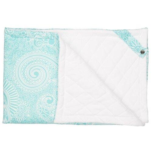 Купить Плед МиМиМи Нежная мята ПЛ141 70х105 см белый/голубой, Покрывала, подушки, одеяла