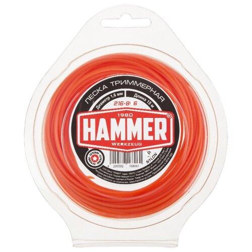 Леска Hammer 216-806 1.6 мм 15 м hammer 216 804 2 4 мм 15 м