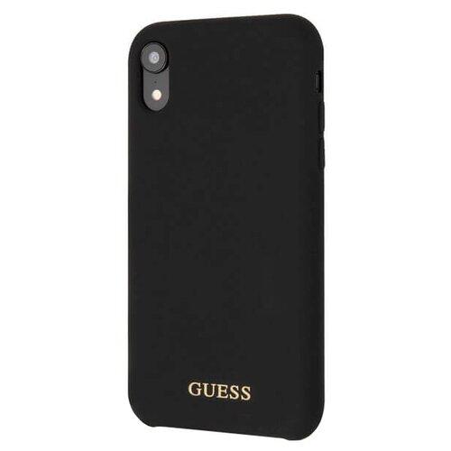 Купить Чехол Guess Silicone Collection Gold для Apple iPhone Xr черный