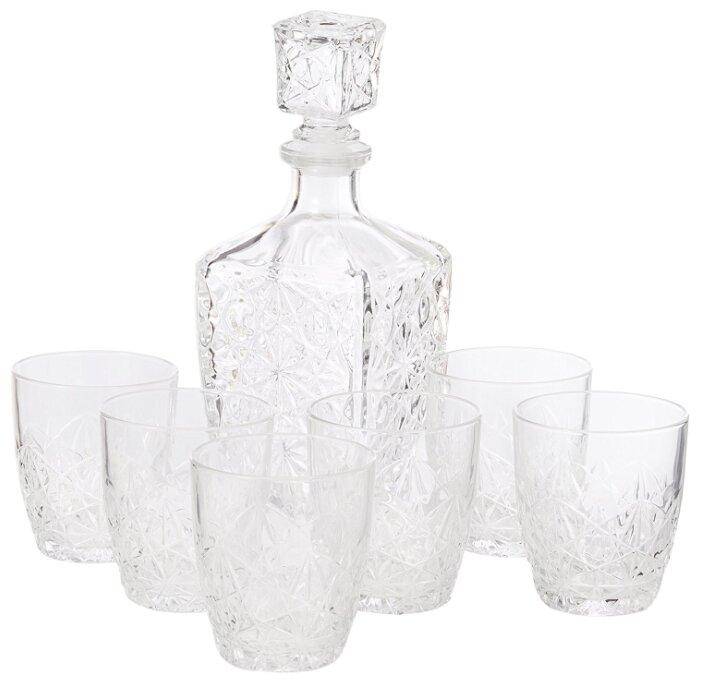 Набор для напитков Bormioli Rocco Dedalo: графин, 780 мл, стопки, 6 шт по 85 мл