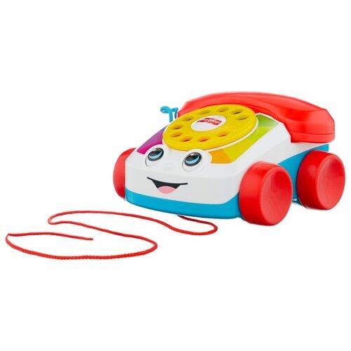Купить Каталка-игрушка Fisher-Price Болтливый телефон (CMY08) со звуковыми эффектами красный/белый/голубой, Каталки и качалки