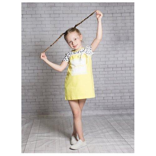 Платье Nota Bene размер 116, желтый платье tutto bene tutto bene tu009ewmgv36