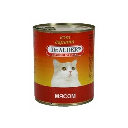 Корм для кошек Dr. Alder`s КЭТ ГАРАНТ мясо кусочки в желе Для домашних кошек (0.4 кг) 1 шт.